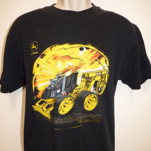 John DEER Semi/Tracktor Turbo Men's T Shirt Black